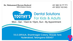 Toothy's Dental Solutions for Kids & Adults