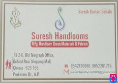 Suresh Handlooms,Mfg:Handloom dress materials&fabrics