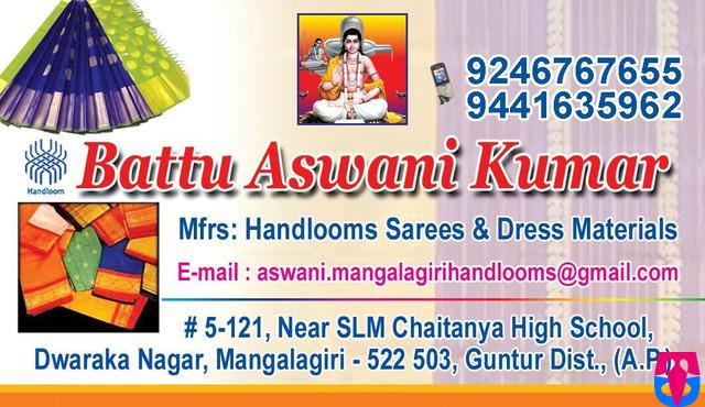 Battu Aswani Kumar  Handlooms  Sarees
