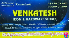 Venkatesh Iron and Hardware Stores
